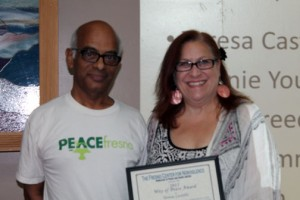Dan Yaseen & Teresa Castillo with Award